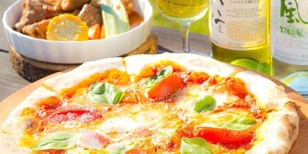 竹田市・久住ワイナリーのピザとワイン