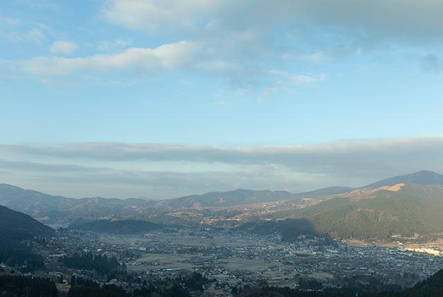 狭霧展望台からの眺め