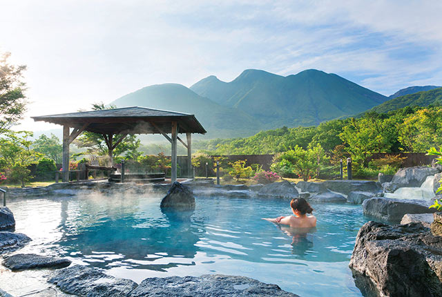 九重星生ホテル 山恵の湯の露天風呂