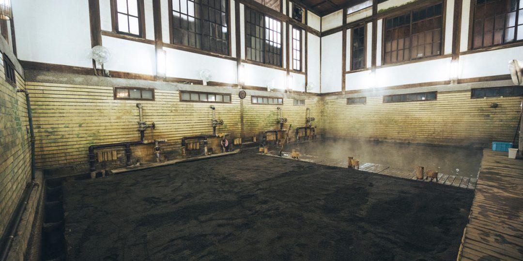 竹瓦温泉の砂湯