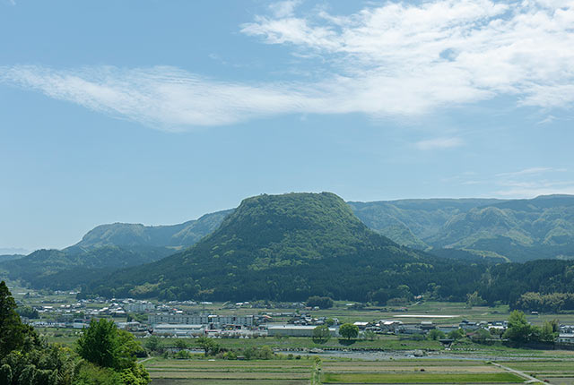 伐株山の遠景