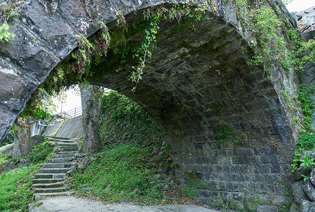 真下から橋を眺める
