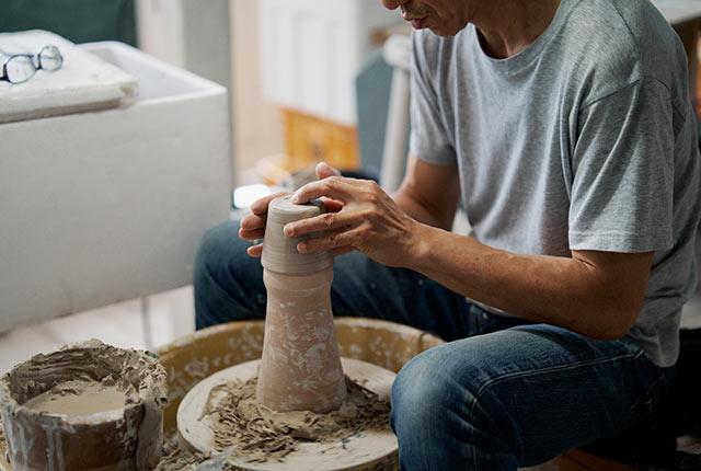 陶器のうつわの製作過程