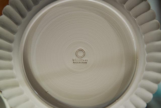 皿の裏面の刻印