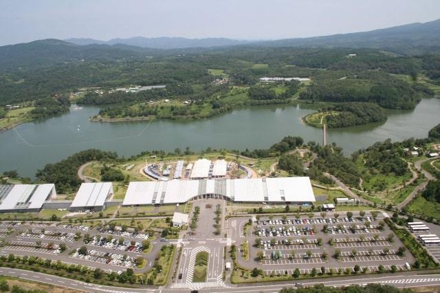 上空から見た大分農業文化公園全景