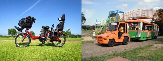 自転車とトラム
