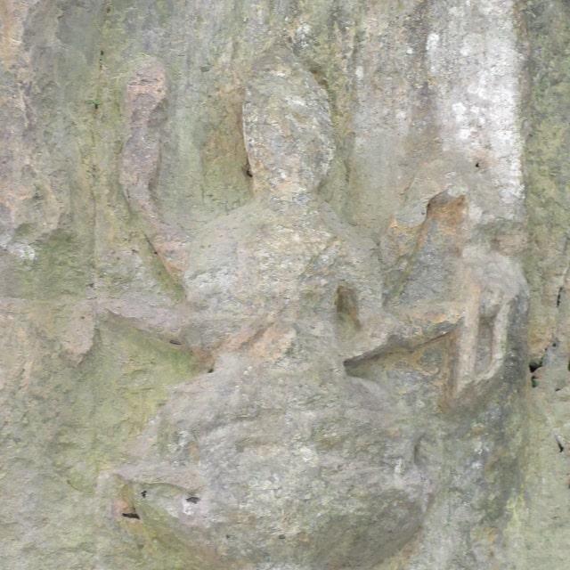 ホキ石仏第一群「愛染明王坐像」